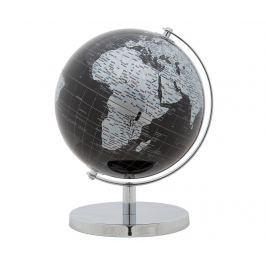 Dekorace Globe Black Silver