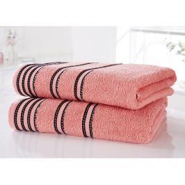 Sada 2 ručníků Sirocco Coral 90x140 cm