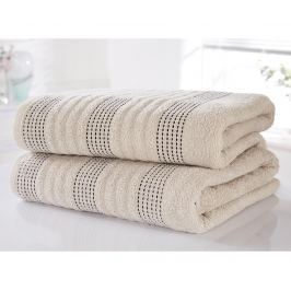 Sada 2 ručníků Spa Taupe 90x140 cm