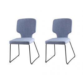 Sada 2 židlí Dana Light Blue
