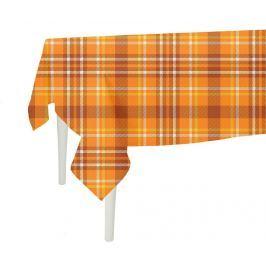 Ubrus Orange Checks Plaid 140x300 cm