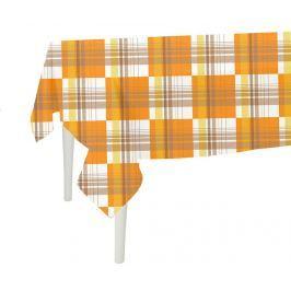 Ubrus Orange Checks 140x180 cm