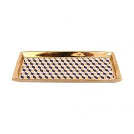 Dekorační podnos Geometric Gold