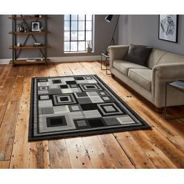 Koberec Hudson Black & Grey 120x170 cm
