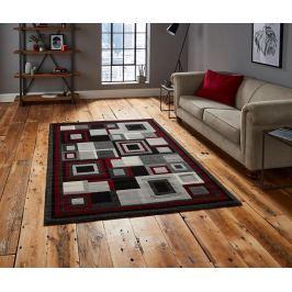 Koberec Hudson Black & Red 160x220 cm