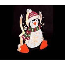 Světelná dekorace Happy Penguin