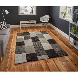 Koberec Brooklyn Grey & Black 120x170 cm