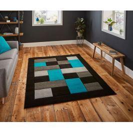 Koberec Matrix Black & Blue 160x220 cm