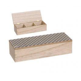 Krabice s víkem na čaj Boho Chic Three