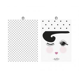 Sada 2 kuchyňských utěrek Cute Eyes 50x70 cm
