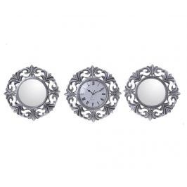 Sada nástěnné hodiny a 2 zrcadla Royals