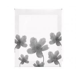 Zatemňovací roleta Grey Flowers 100x250 cm