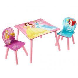 Dětská sada stůl a 2 židle Princess