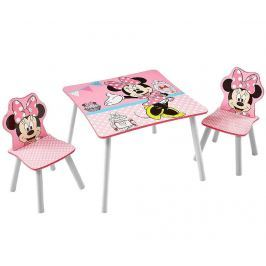 Dětská sada stůl a 2 židle Minnie