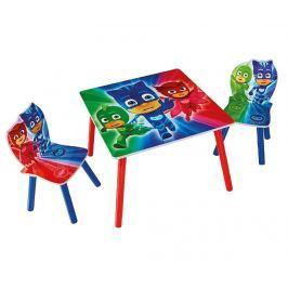 Dětská sada stůl a 2 židle PJ Mask