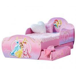 Dětská postel s úložnými zásuvkami Princess