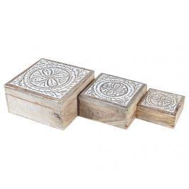 Sada 3 krabic s víkem Daina Square