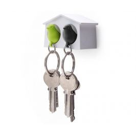 Sada 2 klíčenek a věšák na klíče Mini Sparrow White Green Black