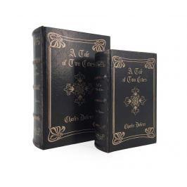 Sada 2 krabic ve tvaru knihy Tale of Two Cities Cross
