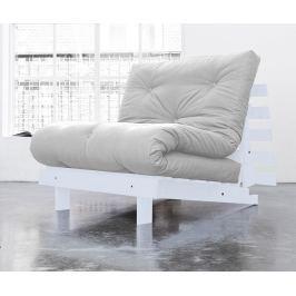 Rozkládací pohovka Roots White and Light Grey 90x200 cm