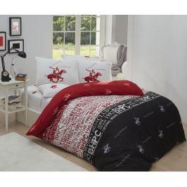 Ložní povlečení Single Ranforce Beverly Hills Red White