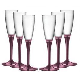 Sada 6 sklenic na šampaňské Amber Purple