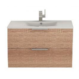 Sada umyvadlo s krytem Iunbu Natural Koupelnový nábytek
