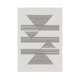 Koberec Norway Triangles White 140x200 cm Moderní