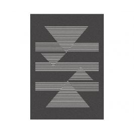 Koberec Norway Triangles Black 140x200 cm Moderní