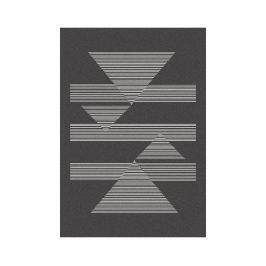Koberec Norway Triangles Black 160x230 cm Moderní