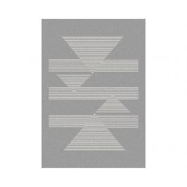 Koberec Norway Triangles Silver 120x170 cm Moderní