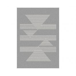 Koberec Norway Triangles Silver 140x200 cm Moderní