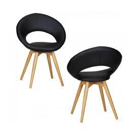 Sada 2 židlí Linda Black Židle
