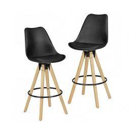 Sada 2 barových židlí Retro Design Barové židle