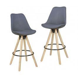Sada 2 barových židlí Retro Design Anthracite Barové židle