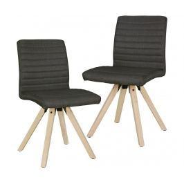 Sada 2 židlí Sola Anthracite