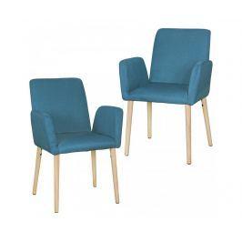 Sada 2 židlí Oslo Blue Židle
