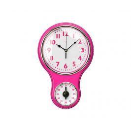 Nástěnné hodiny s časovačem Hot Pink Hodiny