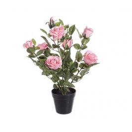 Umělá květina v květináči Isabel Pink Rose Umělé květiny & rostliny