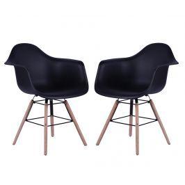 Sada 2 židlí Eris Black Židle