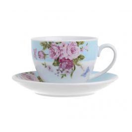Sada 6 šálků a 6 podšálků Tea Blue Roses Servírování čaje & kávy