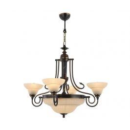 Lustr Tiegan Antique Five Závěsné lampy