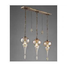 Závěsná lampa Kacey Antique Three Závěsné lampy