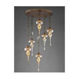 Závěsná lampa Kacey Antique Six