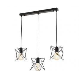 Závěsná lampa Teagan Black Wide Three Závěsné lampy