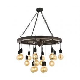 Závěsná lampa Quinn Black Supreme