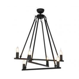 Lustr Alyvia Black Six Závěsné lampy