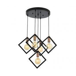 Závěsná lampa Bailey Black Round Five
