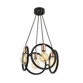 Závěsná lampa Andrew Round Four Závěsné lampy