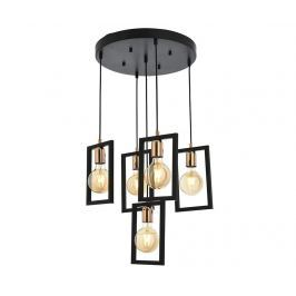 Závěsná lampa Bennett Black Five Závěsné lampy